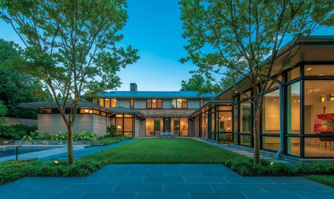 Shaped Plan Creates Bright Suburban Oasis Custom