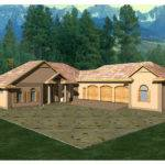 Shaped Ranch Style House Plans Design