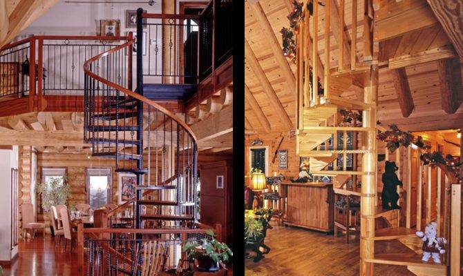 Shaped Staircases Real Log Style