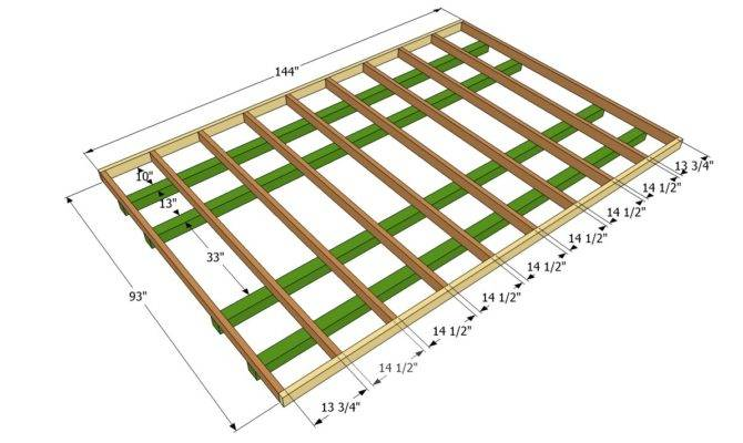 Shed Floor Frame Plan