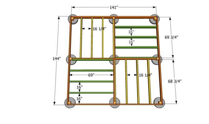 Shed Floor Plans Square Gazebo