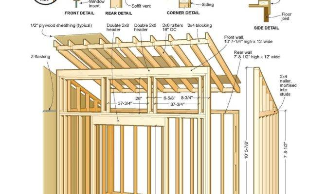 Shed Plans Can Have Variety Roof Styles Blueprints
