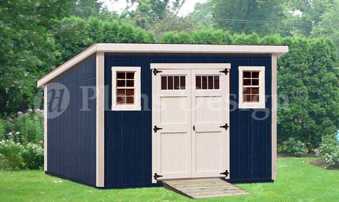 Shed Plans Deluxe Modern Roof Style