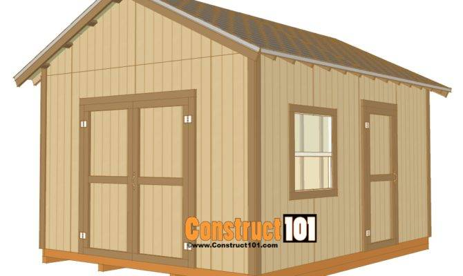 Shed Plans Drawings Material List Pdf