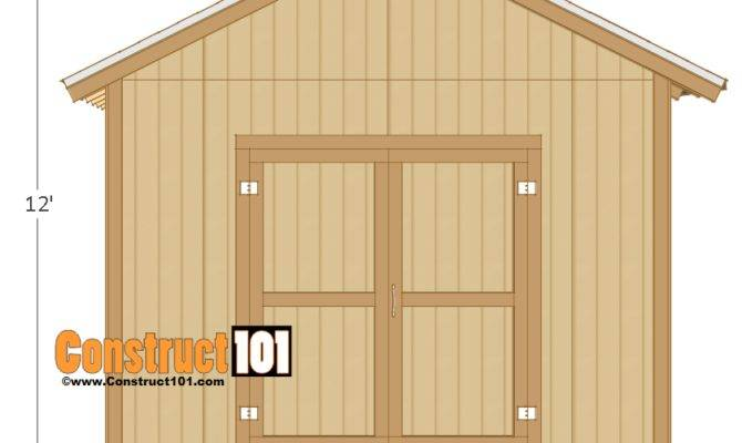 Shed Plans Gable Design Construct