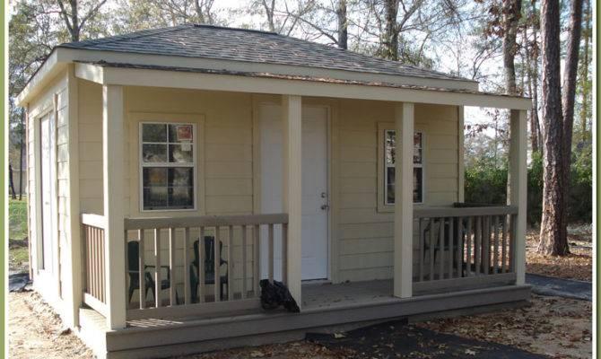 Shed Plans Porch Build Garden Storage Diy