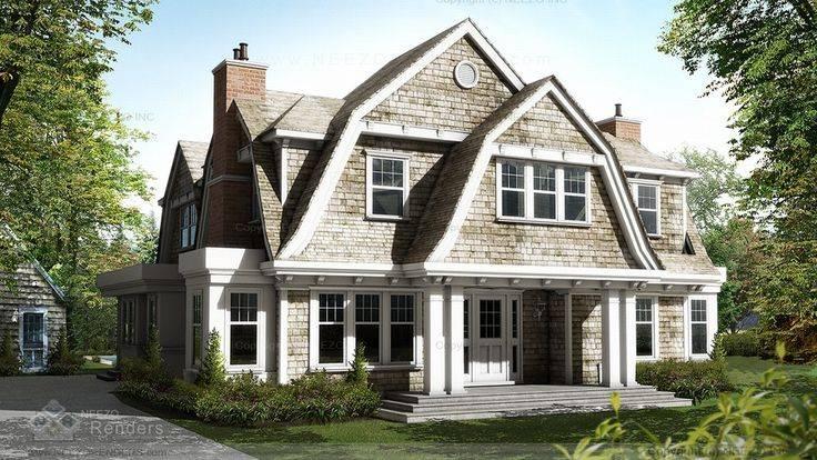 Shingle Gambrel Roof New Home Ideas Exteriors Pinterest