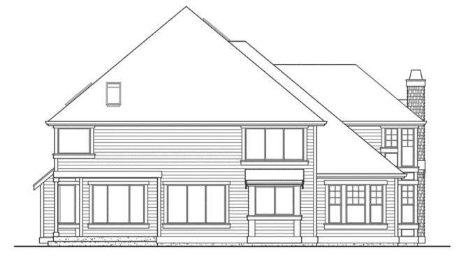 Shingle House Plan Rear Elevation Plans More