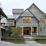 Shingle Style Home Drive Court Elevation