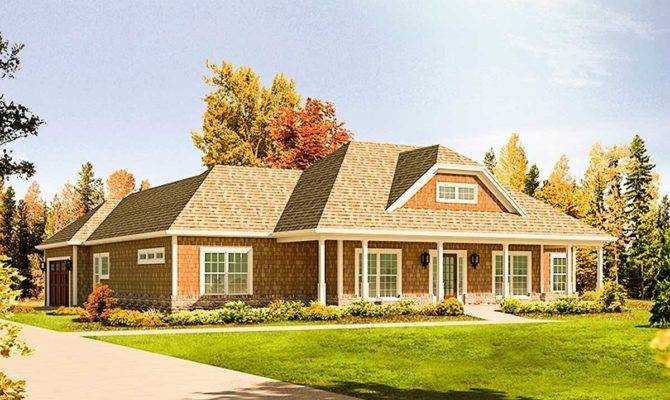 Shingle Style Ranch Home Architectural Designs