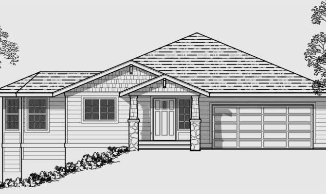 Side Sloping Lot House Plans Walkout Basement