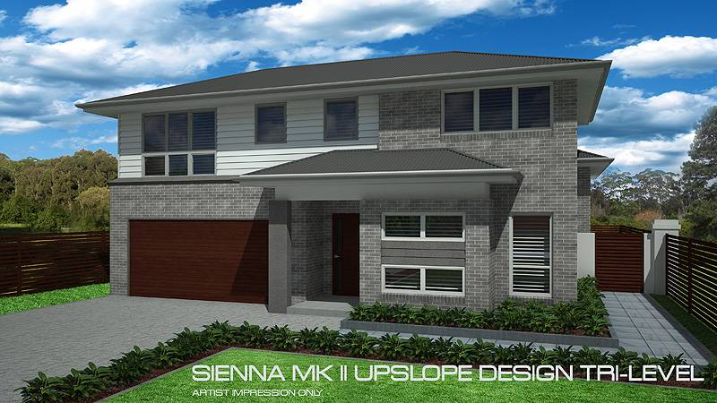 Sienna Mkii Tri Level Upslope Squares Home Design Tullipan Homes