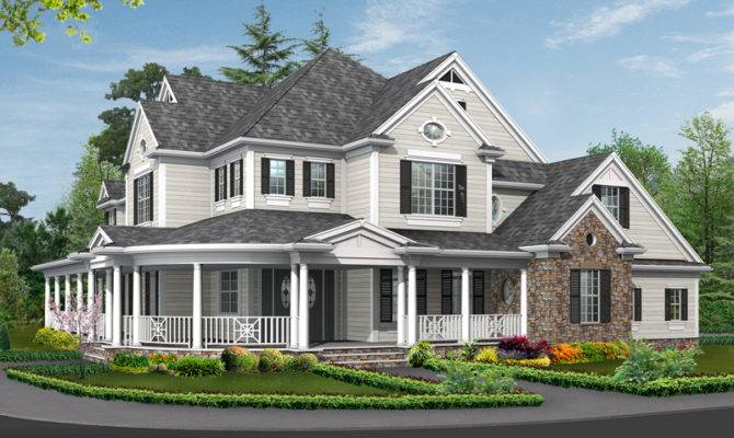 Simone Terrace Country Home Plan House Plans More