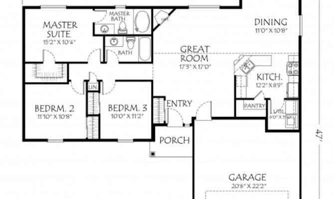 Simple Bedroom House Plans Single Floor