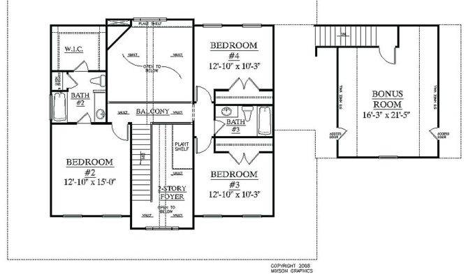Simple Bedroom House Plans Without Garage Small Story