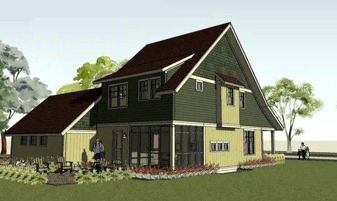 Simple Bungalow Craftsman Home Plan Small House