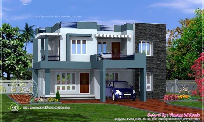 Simple Contemporary Style Villa Plan Kerala Home Design