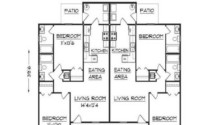 Simple Duplex Floor Plans Design Apartment