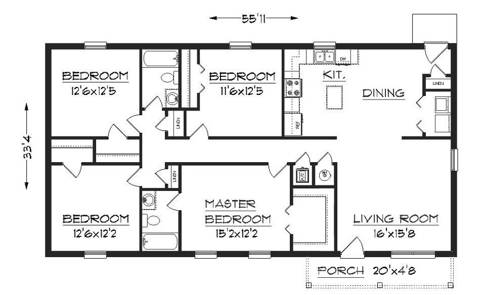 Simple Elegant Floor Plan Hwbdo Cottage House