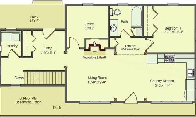 Simple Floor Plans Basement Walk Out
