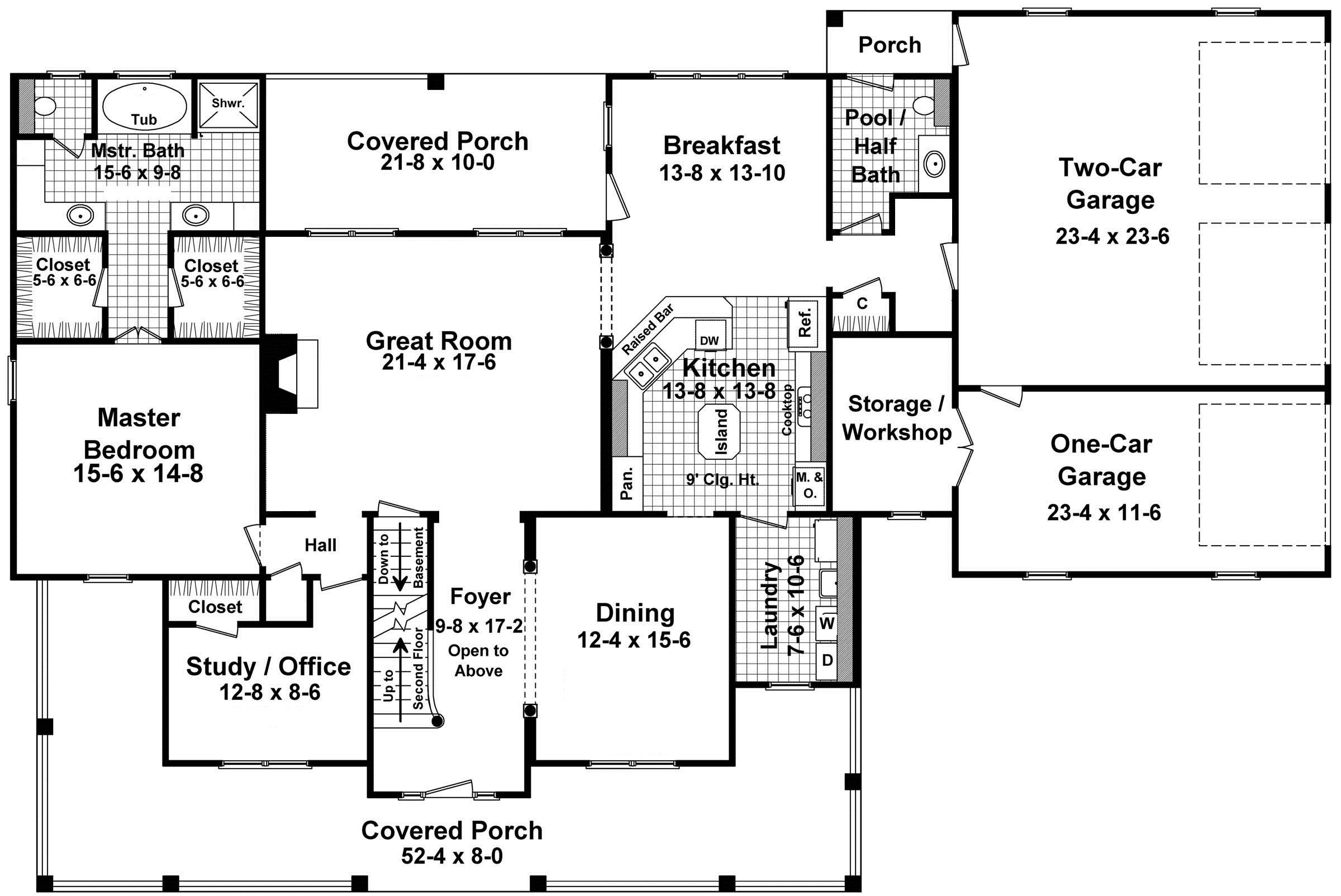 Simple Floor Plans Wrap Around Porch