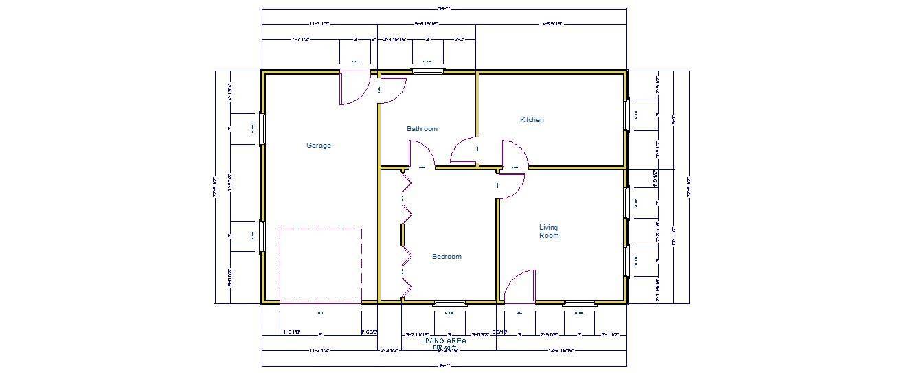 Simple House One Car Garage Pro Barn Plans