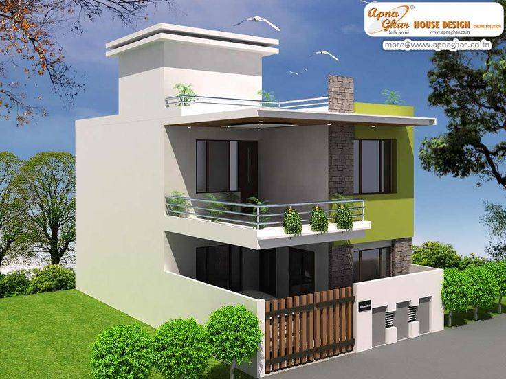 Simple Modern Duplex House Design Square Feet Link