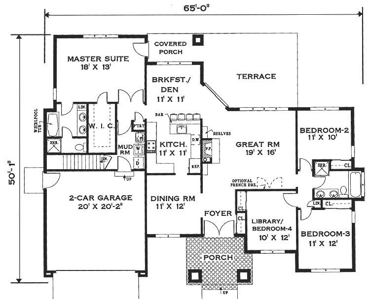 Simple One Story House Plans Storey Home Floor Plan