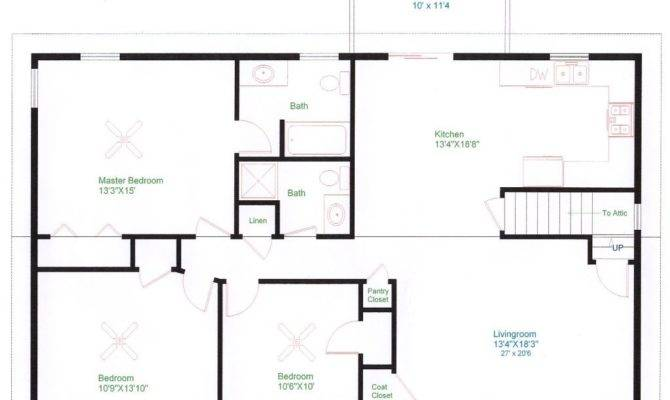 Simple Ranch House Floor Plans Fresh
