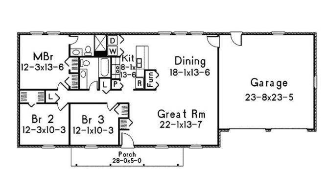 Simple Ranch Style House Plans New Floor