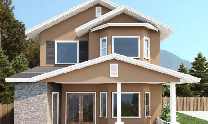 Simple Small Duplex House Placement Architecture Plans
