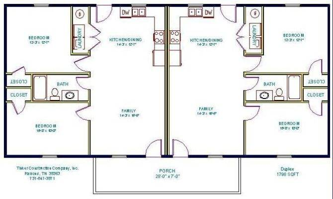 Simple Small House Floor Plans Floorplan Duplex Multi