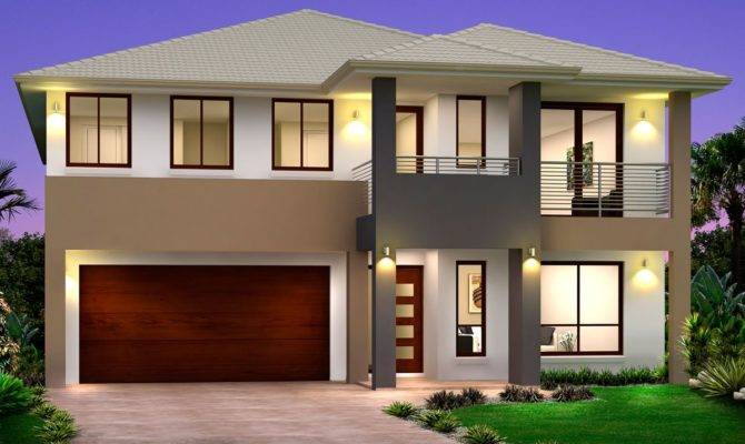 Simple Two Storey House Design Modern Philippines Double