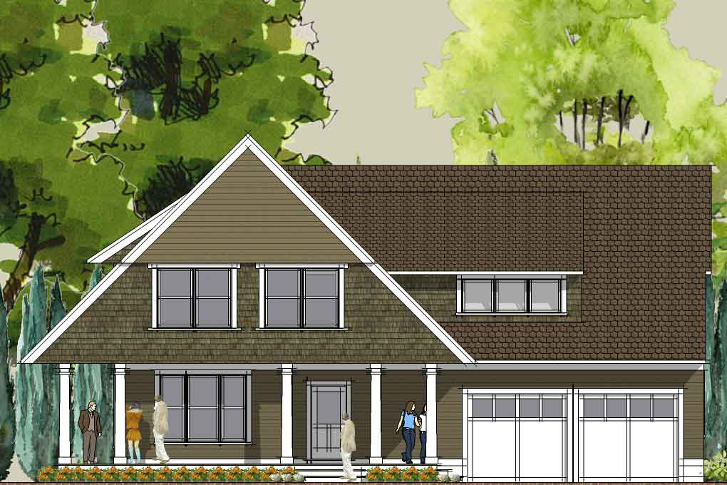 Simply Elegant Home Designs Blog Modern Cottage House Plan
