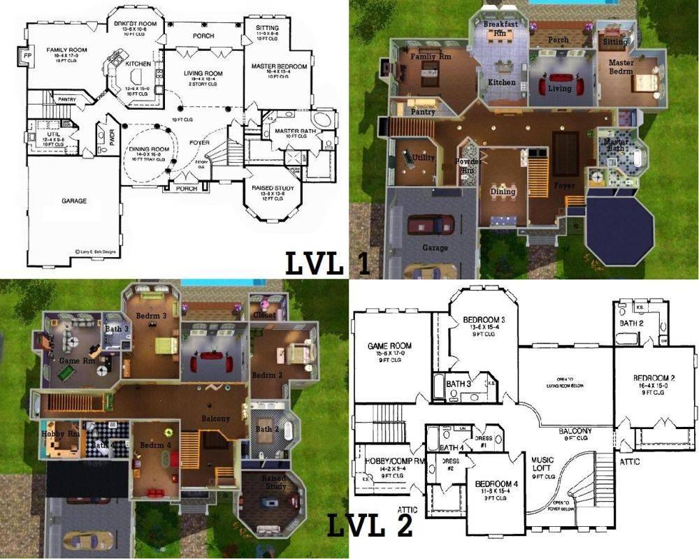 Sims Bedroom House Blueprints Bing