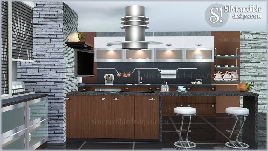 Sims Blog Concordia Kitchen Set Simcredible Designs