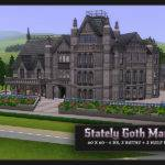 Sims Blog Stately Goth Manor Residential Sionelle