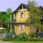 Sims Blog Sunflower Small House Lhonna