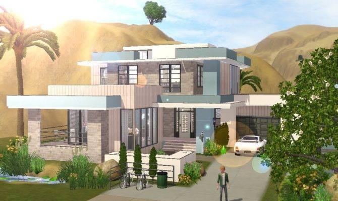 Sims Building Small Modern Familyhouse Youtube