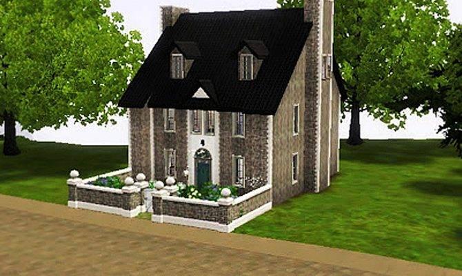 Sims Cute Stone House Simsrepublic Deviantart