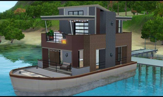Sims House Building Serenity Houseboat Youtube
