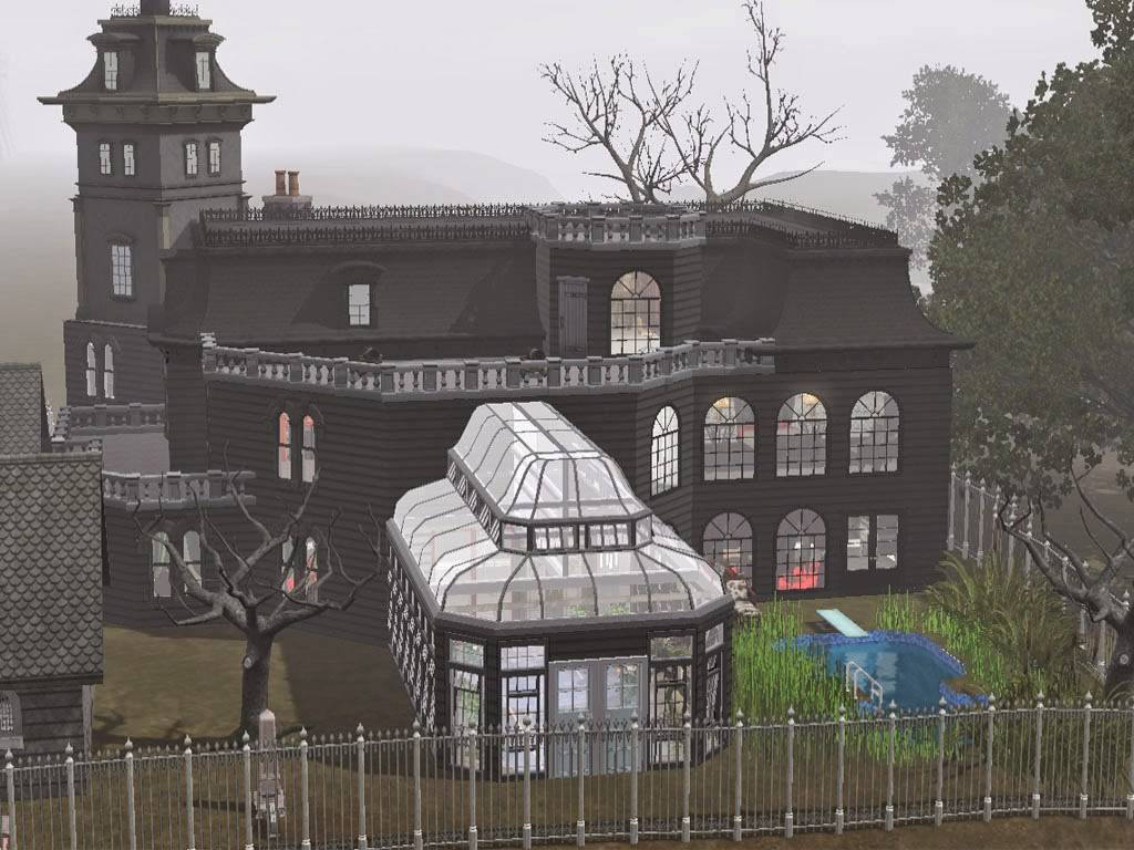 Sims Just Stuff Addams Mansion Squarepeg