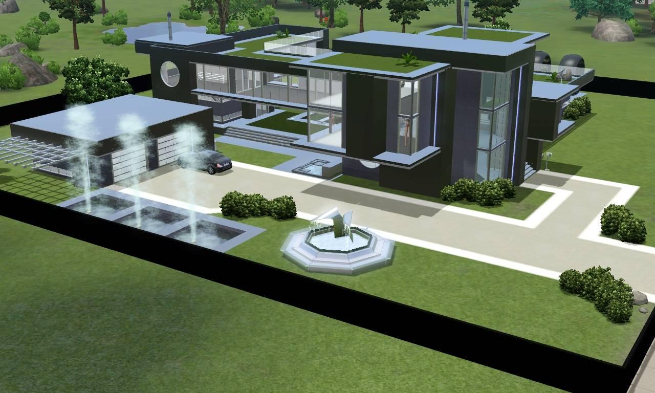 Sims Modern Black Futuristic Villa Ramborocky