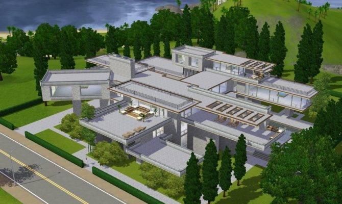 Sims Modern Luxury Mansion Ramborocky Deviantart