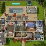 Sims Two Story House Blueprints Bath Single
