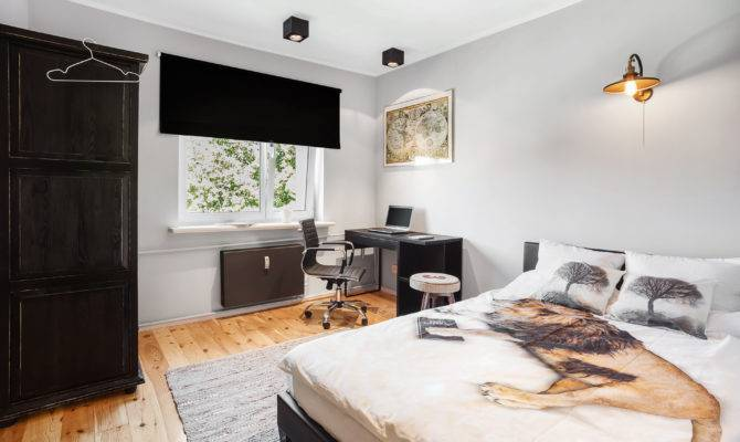 Single Bed Bedroom Large Floor