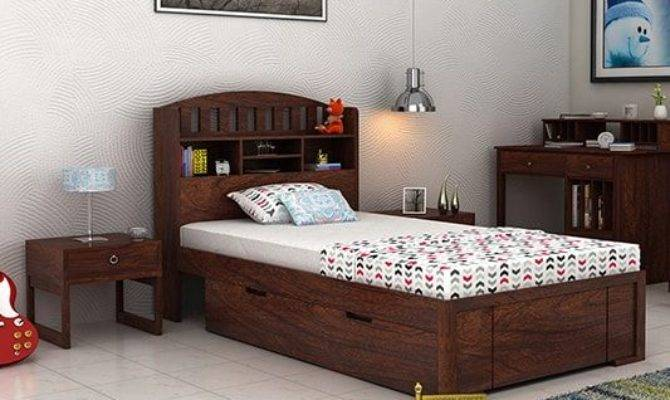 Single Beds Buy Wooden Bed India Upto
