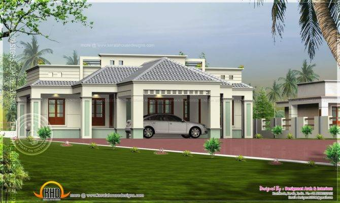 Single Floor Home Center Car Porch Kerala