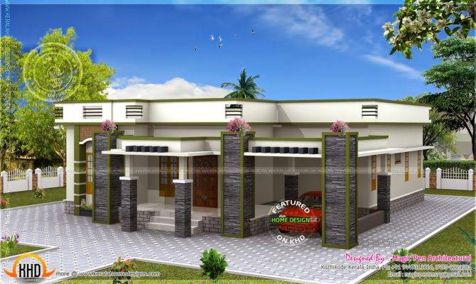 Single Floor House Flat Roof Kerala Home Design