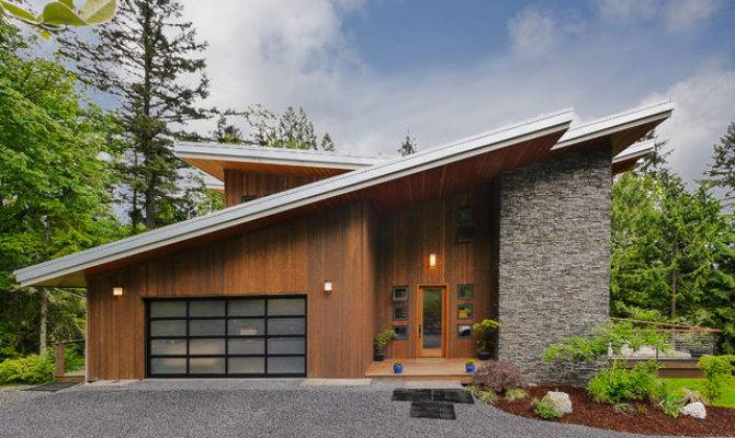 Single Slope Roof Home Small House Plans Modern